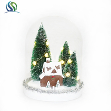 Customized clear glass ball christmas ornaments glass snow ball