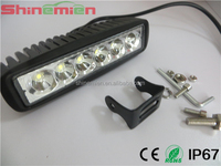 6inch 6 x 3W 18W MINI LED Light Bar offroad truck tractor LED Work Light SUV ATV 4X4 LED Driving Light worklight lamp spot