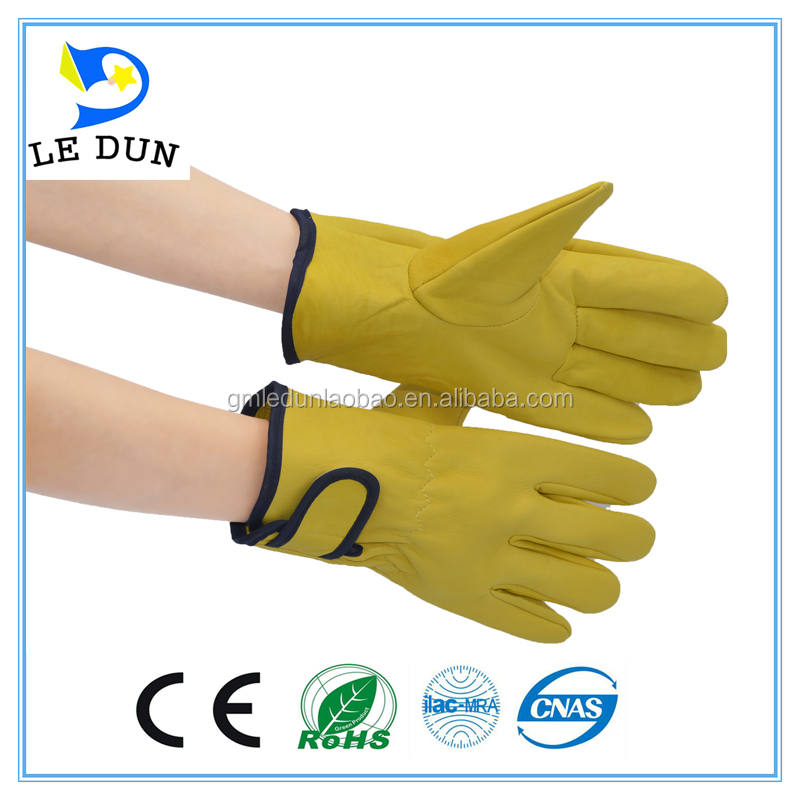 Wholesale Goat Leather Glove High quality forklift or truck drivers driving gloves