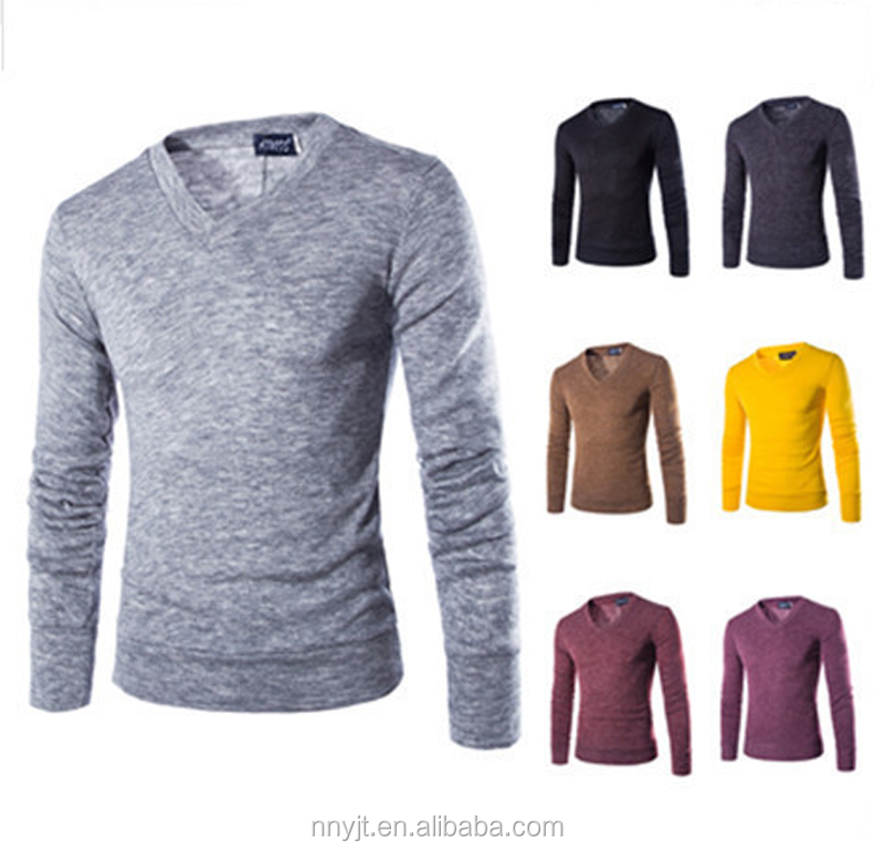 Plain Long Sleeve T <strong>Shirt</strong> Men Fitted Slim Fit Tops Tees V Neck Buttons