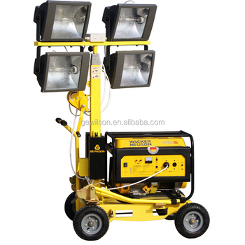 Gasoline or Diesel Generator Telesctopic Lighting tower