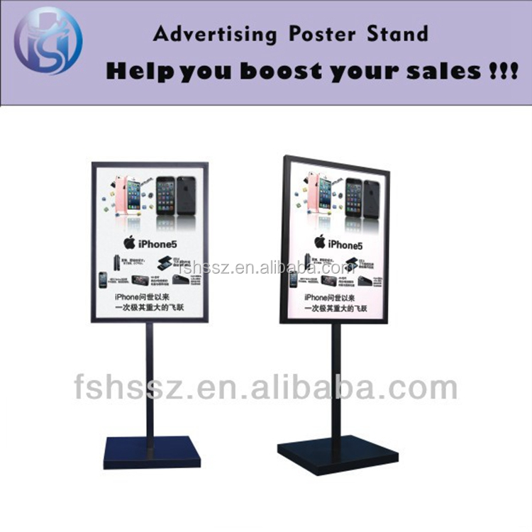 Double Sides A Frame Iron Steel Outdoor Advertising Poster Display stand