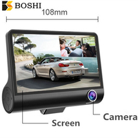 High quality Fhd 1080p Wide Angle Camera 4.0 Inch Three Lens Car Dvr Video Recorder