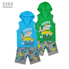 Summer Casual Children Boy Sleeveless With Hood Children Outfit Wear
