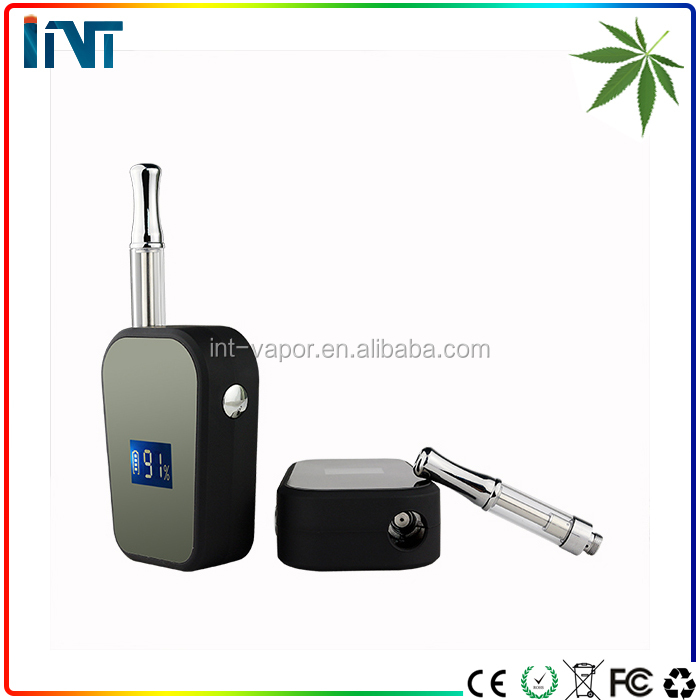 original box mod eCig vaporizer dry herb dab pen 1300mah ego starter kit with 1.ml cbd glass cartridge USB e cig supplier
