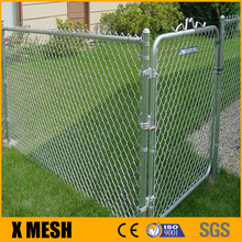 Galvanized chain link fencing wire mesh fabric, framework, fittings, and gates