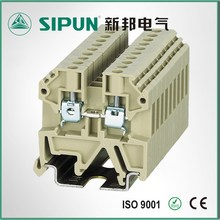 din rail screw 1~60 number of conector 2.5sq industrial electrical terminal block