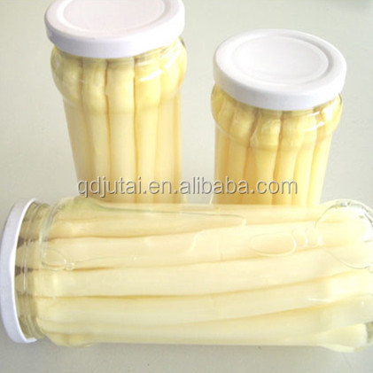 wholesale fresh canned white asparagus with jar package