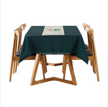 cotton linen check printed restaurant table cloth