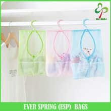 Multifunctional breathable mesh underwear toys storage bag, light hanging toiletry bag, practical see through clothespin bag