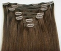 Wholesale India Hair Extension 100 Human Hair Top Quality Double Drown Clip In Hair Extension