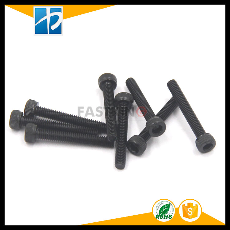 Grade 12.9 SCM435 dacron black cylindrical inner hexagon head screw, model cup head screw