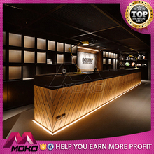 Newly design luxury led cafe bar counter for sale 3d max interior design juice bar counter for sale