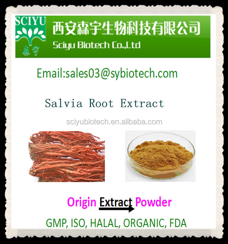 Salvia Miltiorrhiza Extract, Chinese Salvia Root Extract 5:1 10:1 20:1