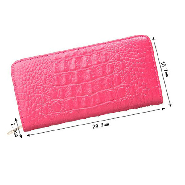 New Women Long Style Purse Genuine Crocodile Leather Wallet in Stock
