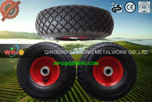 "10"" 3.50-4 Pneumatic rubber wheel for hand truck"