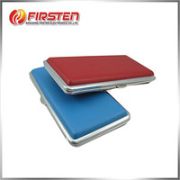 Special Hot Selling Stainless Steel + PU leather cover sublimation cigarette cases
