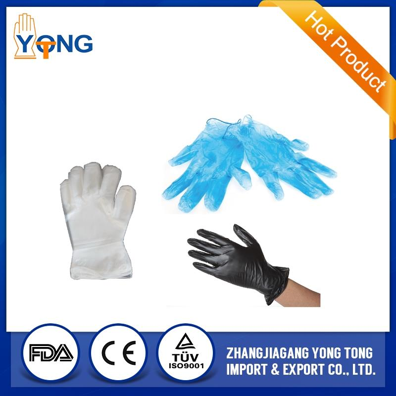 Vinyl examination glove clear and blue(PVC glove)