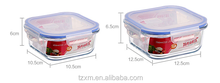 BPA FREE airtight glass food storage container set with plastic lock lid