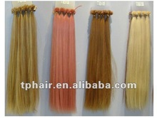 hot sales pre-bonded U tip hair 0.5/0.8g/1g/strand extensiona/remy human stick hair extension