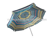 promotional polyester&cotton fabric tilting multicoloured hawaii beach sun umbrella