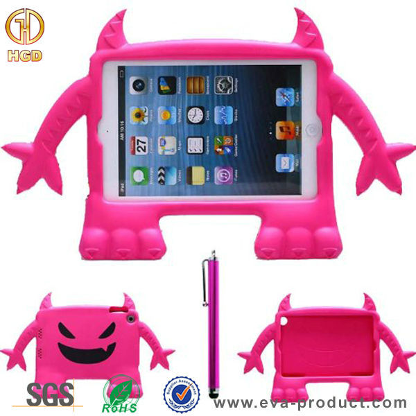 Shenzhen factoy price cute devil design wholesales case for iPad mini