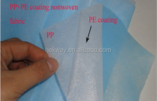 KY PP+PE Waterproof breathable material PE film laminated non woven fabric