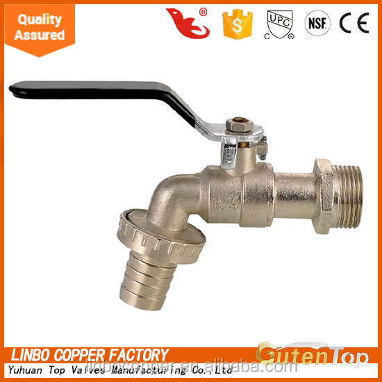 LB-GutenTop hot-sale Nickel plated Brass Bibcock/faucet/tap with Lock