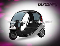 Luxury electric rickshaw with electric car design