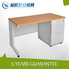 Sell well MDF top iron frame right 3-drawer youth computer study desk