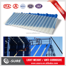 Roof translucent sheet / reinforced pvc roofing panels / wavy corrugated plastic sheet