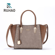 Factory Supplier Custom PU leather handbag with cheap price