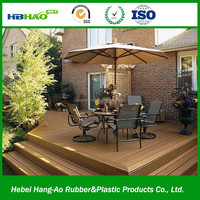 150mm*25mm Modern house design easy install waterproof gardern outdoor flooring/plastic wood floor/wpc decking