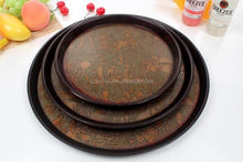 European leather slip plastic tray rectangular round hotel coffee Plate