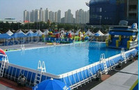 Giant steel frame swimming pool for event