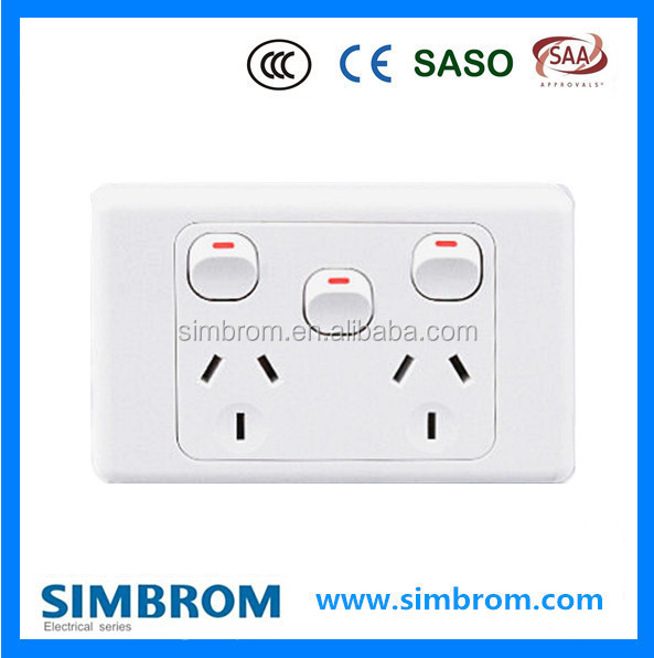 Different kinds of Domestic Australian Standard Wall Switches &Powerpoints SAA