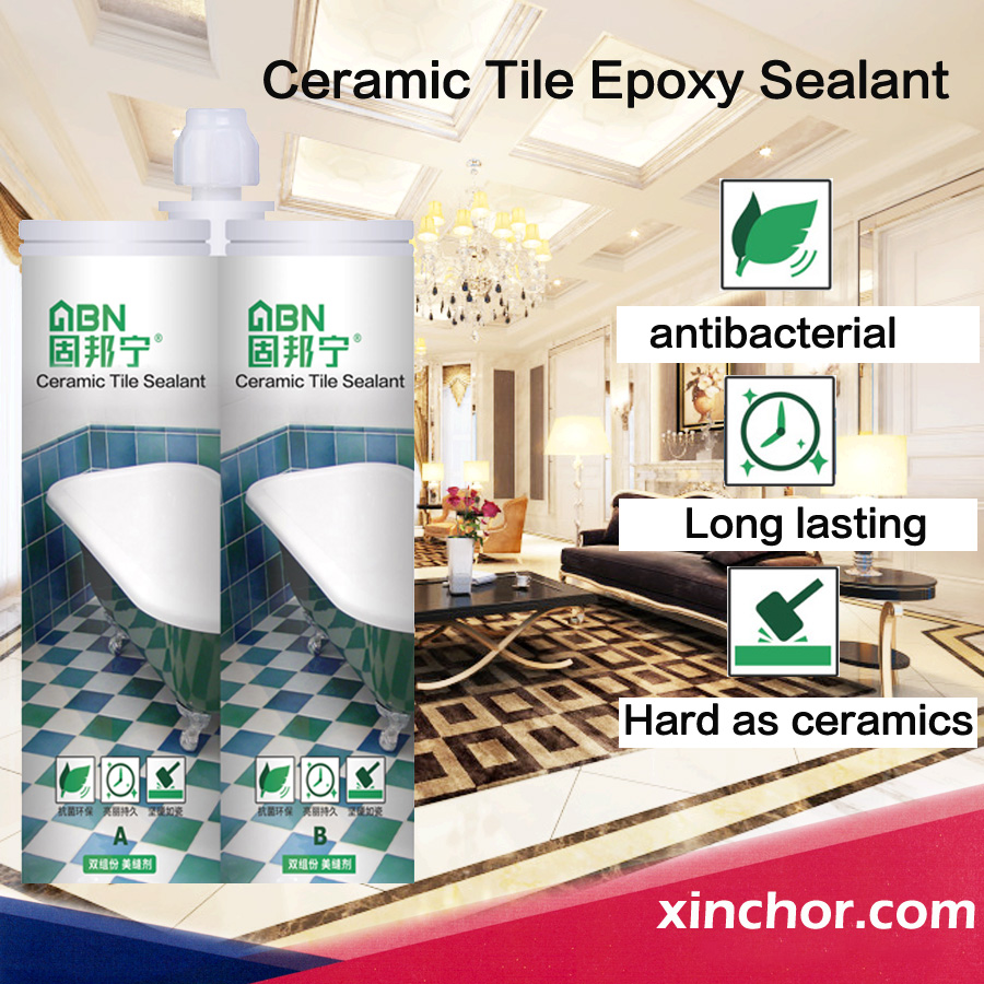 Liquid epoxy resin sealant&adhesive bright color grout for floor wall
