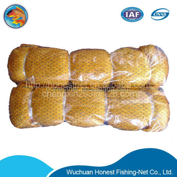 210D/48PLY nylon polyester fishing nets prices single knots