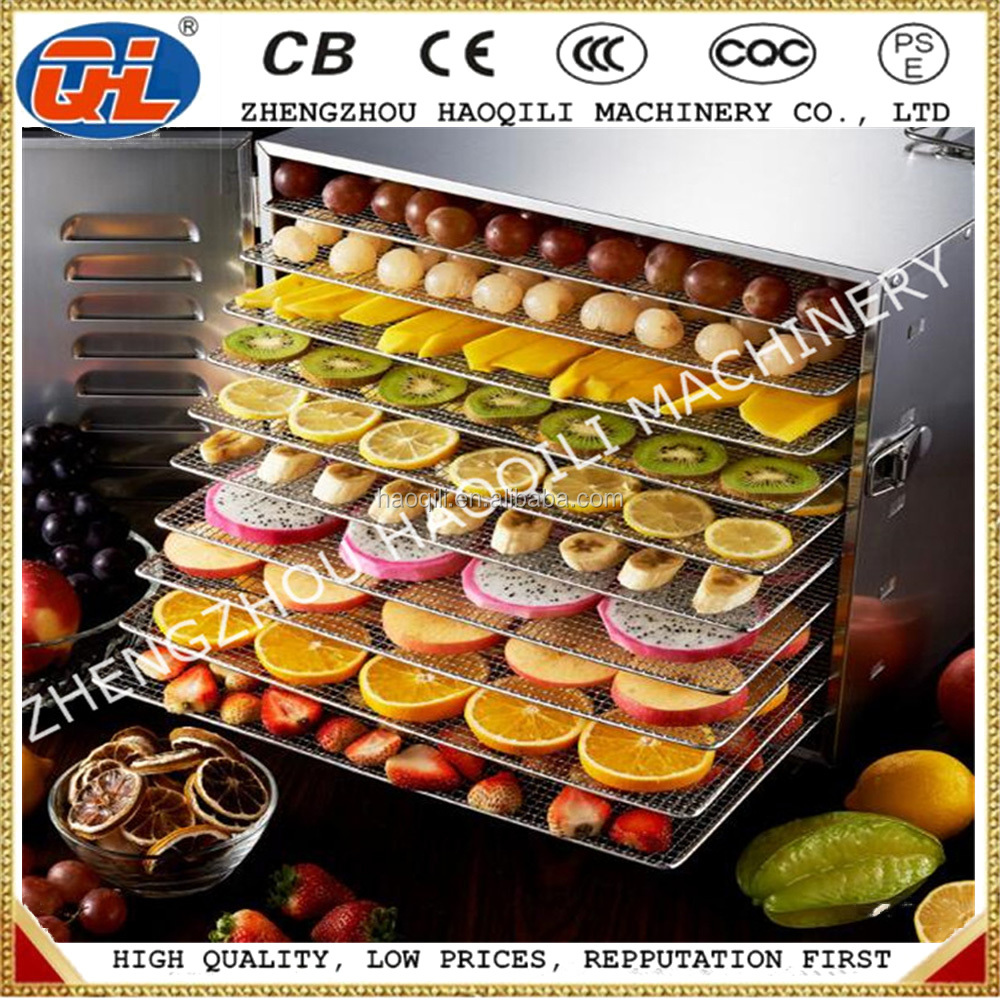 Hotel 10 Racks Stainless Steel Commercial Electric Food Dryer | Food Dehydrator