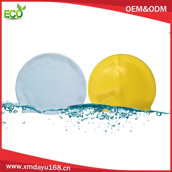 Silicone Material swimming cap ,shower caps for curly long hair women