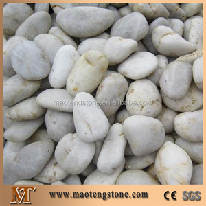 Fargo White River Stone, Honed White Pebble Stones for Driveway/Walkway Paving, Natural Pebble Stones for Garden Road