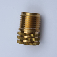 Male thread brass insert for PVC or PPR pipe