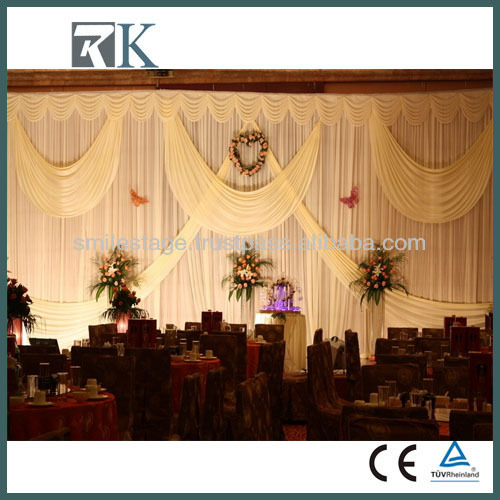 Cheap wedding pipe and drape drapery with good quality on sale