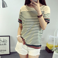 striped full hand t-shirt,polo sport t-shirt design,t-shirts women fashion