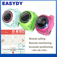 SOS Function Kids GPS Watch Phone, Child GPS Tracker Watch with Remote Monitoring