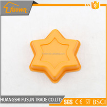 heat resistant hard christmas gift of ice block moulds Star mold silicone chocolate mold