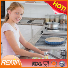 RENJIA large sink mats with drain hole sink mats with drain hole dish drying mat uk