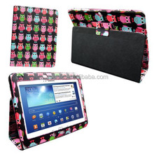 PRINTED LEATHER CASE ,MAGNETIC WALLET LEATHER CASE FOR SAMSUNG GALAXY TAB2 10.1 P5100