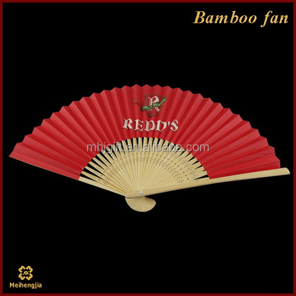 New style customized silk ladies bamboo hand fan