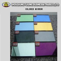 Colored aluminum mirror; Colored mirror glass sheet